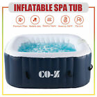 5x5 Inflatable Spa Tub w Heater  120 Massaging Jets for Patio Backyard  More