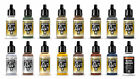 10 VALLEJO MODEL AIR ACRYLIC AIRBRUSH PAINTS COLOURS SUITABLE FOR MODEL RAILWAYS