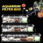 3 4 5 Grids Acrylic Aquarium Fish Tank External Hang On Filter Box Without Pump