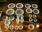 25 Pc Vintage Opalescent Moonstone Hobnail Dinnerware Collection
