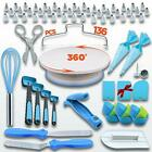 136 Set Cake Decorating Kit Supplies Pieces Kit Baking Tools Turntable Stand Pen