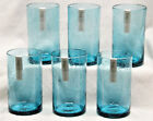 Aqua Bubble Glass Tumbler Drink Glass by TAG 18 oz Set of Six