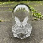 Hofbauer Byrdes Crystal Frosted Butterfly Clear Dome Paperweight Decor