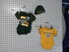Lot of 2 ~ NFL Team Apparel Green Bay Packers one piece 0/3 months - beanie 0/6