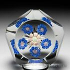Perthshire Paperweights 1969 circlet patterned millefiori faceted paperweight