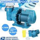 1HP Swimming Pool Water Pump Above Ground Motor Strainer 165m h 7500W