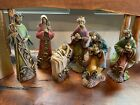 Vintage THE PROMISE OF CHRISTMAS NATIVITY SET BY ROBERT STANLEY DELUXE 6 PC RARE