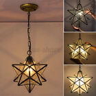 Moravian Star Glass Pendant Chandelier Light Modern Ceiling Fixture Lam