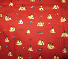 Alexander Henry Fabric Lacota Plains 44 x 84 Native American Indian Teepee Red