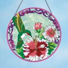 Hanging Charming Floral Hummingbird Stained Glass Styling Window Suncatcher