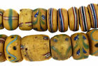 Venetian Trade Beads Yellow Disks African 24 Inch