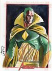 Marvel Greatest Heroes Color Sketch Card by Artist Unknown - SEE CARD - Vision
