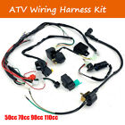 ATV Wiring Harness Kit Electric Ignition Coil for 50cc 70cc 90cc 110cc Quads