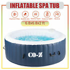 68x68 Inflatable Spa Tub w Heater  140 Massaging Jets for Backyard  More
