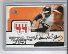 WILLIE McCOVEY 2001 FLEER EX BEHIND THE NUMBERS GAME JERSEY AUTOGRAPH AUTO 24 44