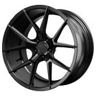 Staggered Verde Axis Front20x9Rear20x105 5x120 +20mm Black Wheels Rims