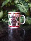 Boyds Collection Bearware Pottery Works 2004 Holiday Mug Cup Reindeer Bear Trees