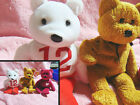 Ty Beanie Baby  Fuzz/ diana/ E KIng Gill sports bear reprisents the 12 man