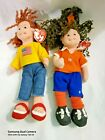 2002 TY Teenie Beanie Boppers Collection Midfield Manny & American Millie w Tags