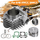 61mm Motorcycle Big Bore Cylinder Piston Gasket Rebuild Kit For GY6 150CC 200CC