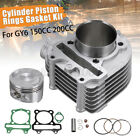61mm Motorcycle Big Bore Cylinder Piston Ring Gasket Rebuild For GY6 150CC 200CC