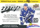 2018 19 Upper Deck MVP Hockey EXCLUSIVE HUGE 21 Pack Factory Sealed Blaster Box