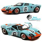 Solido 118 1968 Ford GT40 MK1 Gulf 6 Light Blue Le Mans 1969 Diecast Model