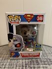 Funko Pop Cyborg Superman #346 SDCC 2020 Shared Exclusive W PROTECTOR