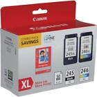Canon Ink Package with PG 245 XL Black CL 246 XL Color Ink Cartridge 8278B005