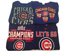 Chicago Cubs 4 Shirt Lot Size XL 2016 World Series, Nike and Others