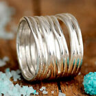 Wire Wrap Ring Sterling Silver Chunky Big Statement Wide Band Women Size 7 8 9