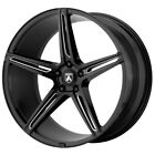 4 Asanti ABL 22 Alpha 5 22x9 5x112 +32mm Black Milled Wheels Rims 22 Inch