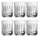 Tumbler Glass Double Old Fashioned Set of 6 Glasses Hand Cut Crystal Des