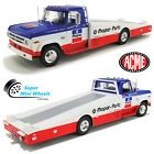 ACME 118 Mopar Parts 1970 Dodge D300 Ramp Truck Blue White Red