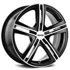 4 Touren TR62 18x75 4x100 4x45 +40mm Black Machined Wheels Rims 18 Inch
