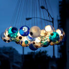 Modern LED Ceiling Lamp 19 Glass Globes Bubble Pendant Light Hanging Chandeliers