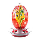 Stained Glass Flower Pattern Wide Mouth Detachable Hummingbird Nectar Feeder US