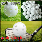 10pcs 41mm new golf hole ball indoor practice toy ball with holes