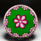 Perthshire Paperweights patterned millefiori flower and garland paperweight