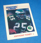 1988 KENNER STARTING LINEUP ANTHONY TONEY EAGLES SINGLE FOOTBALL CARD