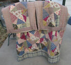 Lasting Impressions by Victorian Heart Queen Cotton Quilt  2 Pillow Sham Set