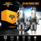 AUXBEAM H4 9003 HB2 LED Headlight Bulbs 6500K White High Low Beam for Motorcycle