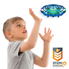 Force1 Scoot Hand Operated Drone for Kids Indoor UFO Flying Toy Drone Blue