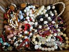 Huge Lot 8+ LBS Beaded Necklaces Vintage To Now WEAR Multicolor Glass Acrylic