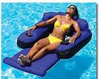 Swimming Pool Floats with Drink Holder for Adults Inflatable Fabric Lounge Chair