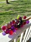 GROOVY GRAPES ORG Vintage Large Lucite Glass Grapes 17 Mid Century Drift Wood