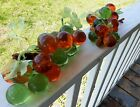 GROOVY GRAPES Vintage Mid Century Lucite Solid Glass Grapes Set Of Two 1960s