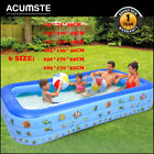 Large Family Swimming Pool Outdoor Garden Summer Inflatable Kids Pools 6 sizes