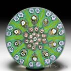 Strathearn Glass patterned millefiori glass paperweight