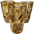 Lot of 3 Christopher Morrison Art Glass Vase Tumblers Bellingham WA